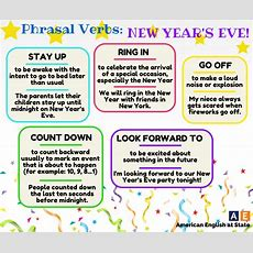 Click On Phrasal Verbs For New Year's Eve
