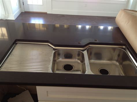 double basin sink left drainboard oliveri double bowl