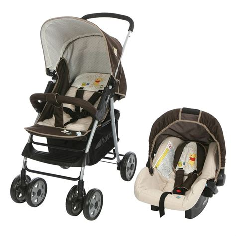 siege auto winnie l ourson winnie poussette combinée duo shopper 10 beige marron