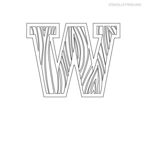 letter stencils for wood stencil letters w printable free w stencils stencil