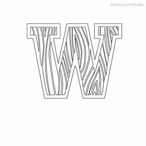stencil letters w printable free w stencils stencil With letter stencils for wood