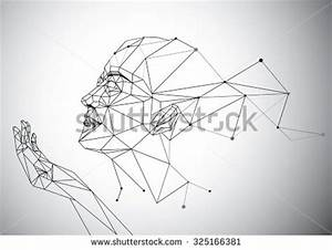 Geometry Polygon Woman Portrait Stock Vector Illustration ...