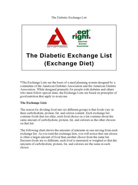 diabetes diet chart   templates   word excel
