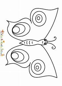 Dessin Facile Papillon : coloriage simple d 39 un papillon coloriage papillon t te modeler ~ Melissatoandfro.com Idées de Décoration