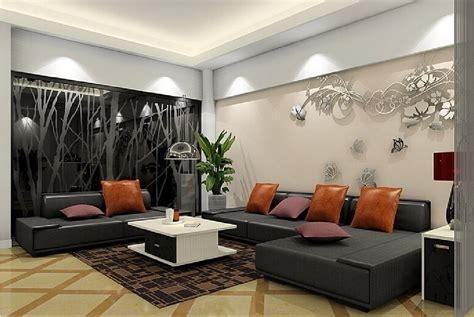 Black Sofa Design by Decor With Black Sofas Blue Rug Black Sofa