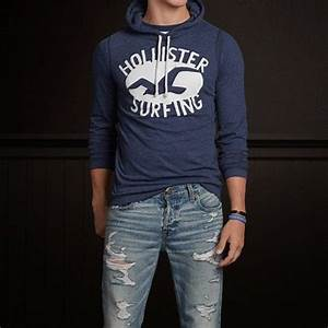 Guys Avalon Place Hoodie T-Shirt/ Hollister | Look ...