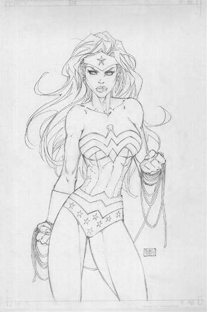 Turner Michael Wonder Woman Comic Drawing Sketches