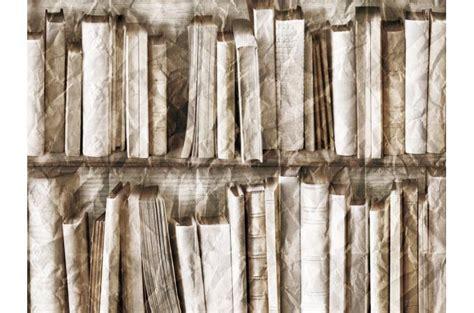 papier peint trompe l oeil biblioth 232 que effet froiss 233