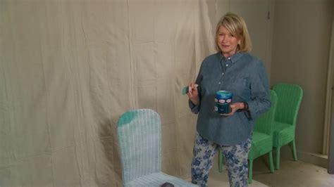 Video: Ask Martha: Spray Painting Wicker Chairs   Martha