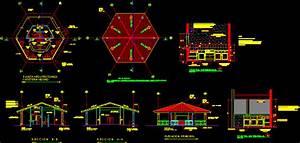 Cafeteria 2D DWG Design Elevation for AutoCAD • Designs CAD