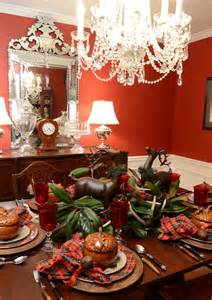 christmas tablescape cozy woodland setting with antler deer centerpiece