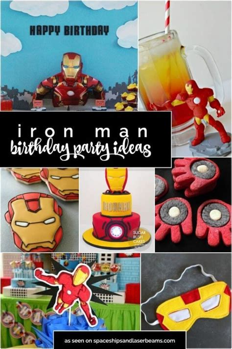 iron man party ideas spaceships  laser beams