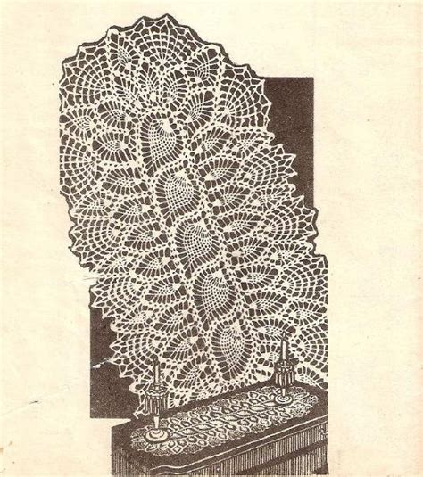 free crochet pineapple table runner patterns crochet doily pineapple pattern crochet runner crochet pdf