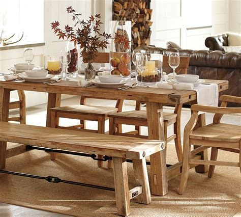 Simple Distressed Farmhouse Kitchen Table With White