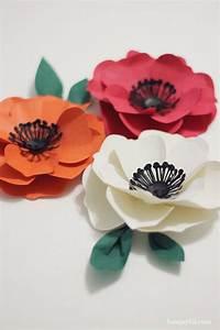 Lotus Flower Petal Template Paper Poppy Tutorial Howjoyful Tutorials Pinterest