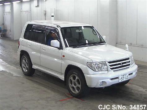 white mitsubishi kavinsky 2002 mitsubishi pajero io white for sale stock no 34857