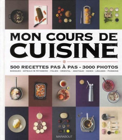cour de cuisine livre mon cours de cuisine collectif