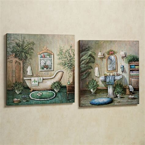 Bathroom Wall Painting Ideas by Blissful Bath Wooden Wall Plaque Set In 2019 Wall