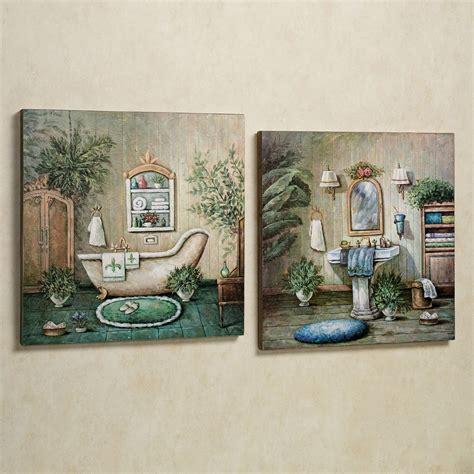 Gorgeous bathroom tile ideas for elegant bathroom walls as well as floorings. Blissful Bath Wooden Wall Art Plaque Set | Wall painting decor, Wooden wall art, Wall decor