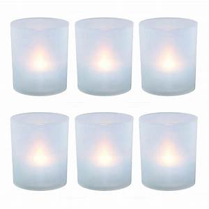 Lumabase flameless votive candles 225 in warm white for Kitchen colors with white cabinets with plastic votive candle holders