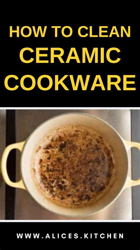 ceramic cookware clean alices kitchen vinegar distilled