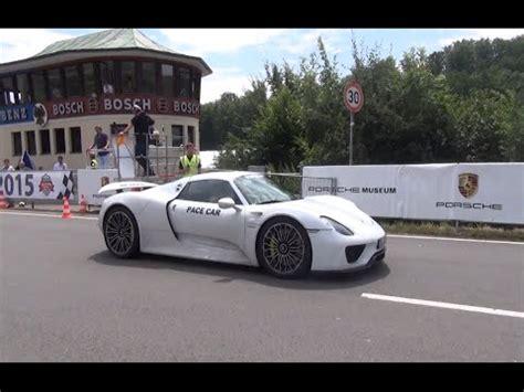 Porsche 918 Acceleration by Porsche 918 Spyder Quot Pace Car Quot Sound Acceleration