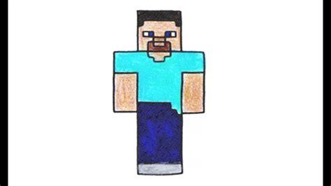 Como Desenhar O Steve De Minecraft (skin)