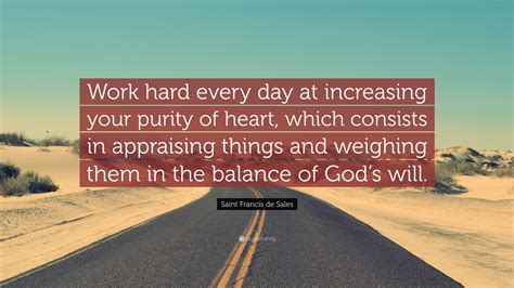 saint francis de sales quote work hard  day