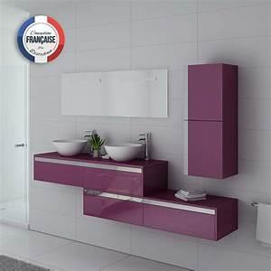 Meuble Double Vasque Design : meuble double vasque design aubergine grand meuble double vasque dolce vita au ~ Mglfilm.com Idées de Décoration