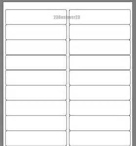 20000 blank 1 x 4 white address laser return mailing With blank mailing address labels