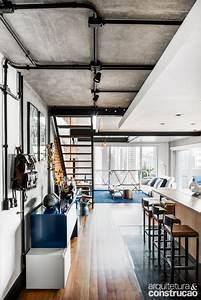 Loft Evidencia A Beleza Do Tijolinho E Do Concreto Aparente