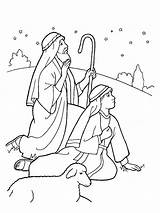 Shepherds Nativity Coloring Christmas Pages Lds Line Jesus Drawing Sheets Story Crafts Bible Birth Night Colouring Printable Scene Angel Craft sketch template