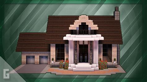 minecraft   build  large suburban house tutorial