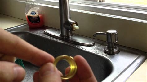 fix  leaky kitchen faucet pfister cartridge youtube