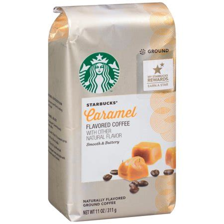 Every sip is smooth and filled with flavors that mingle perfectly together. Starbucks Caramel Flavored Coffee with Other Natural ...