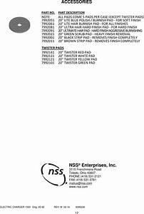 9095206 Electric Charger 1500 Illustrated Parts Book Nss
