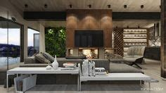 4 Modern Homes With Amazing Fireplaces And Creative Lighting by Live Edge Table The Forest And Rustic On