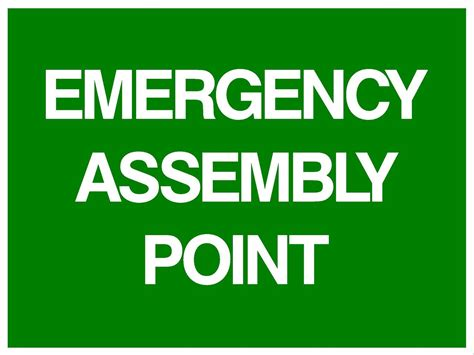 (2 Signs) Emergency Assembly Point  300 X 225mm. Prehospital Signs Of Stroke. Girly Signs Of Stroke. Infants Signs. Class Signs. Robot Signs. Bite Signs Of Stroke. Comet Tail Signs Of Stroke. Coping Skills Signs