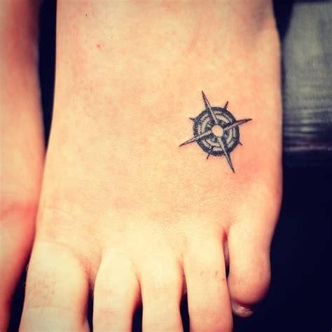 small compass foot tattoo creativefan