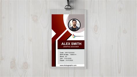 corporate id card design  template graphicsfamily