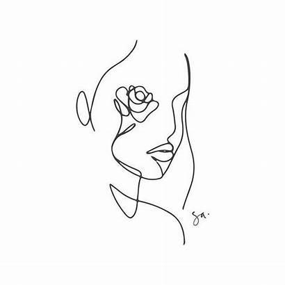 Line Tattoo Tattoos Minimalist Drawing Face Flower