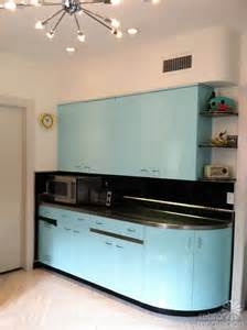 Blue Glass Tile Kitchen Backsplash Robert And Caroline 39 S Mid Century Home With Dreamy St Charles Kitchen Cabinets Retro Renovation