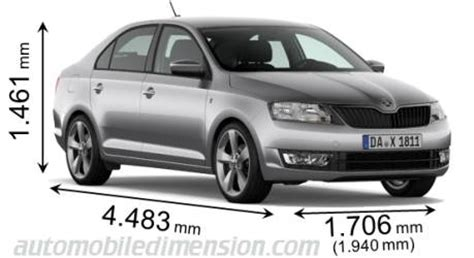 dimensions  skoda cars showing length width  height