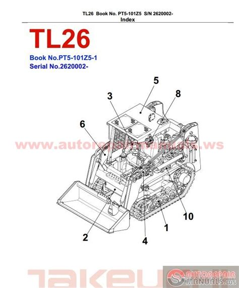 takeuchi tl26 pt5 101z5 1 parts manual auto repair manual heavy equipment