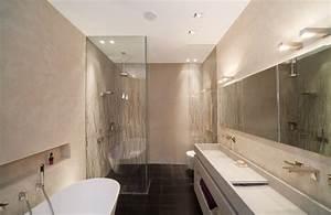 101 photos de salle de bains moderne qui vous inspireront With carrelage rectangulaire salle de bain