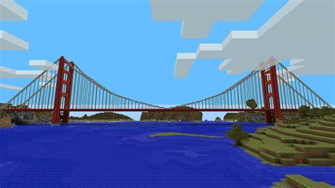 golden gate bridge minecraft building