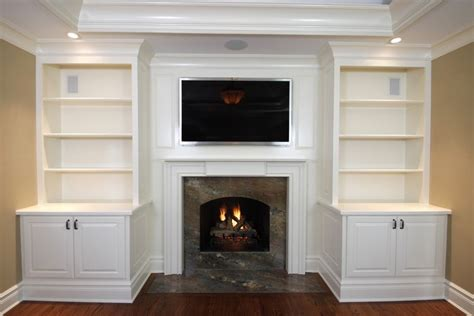 picture of kitchen cabinets pin fireplace with built in cabinets and custom mantle on 4189