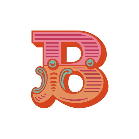 uppercase letter b template printable image is loading