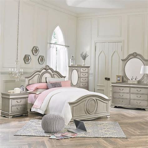 silver bedroom furniture sets jessica silver youth bedroom set adams furniture 17062 | 93550 jessica silver roomscene grande