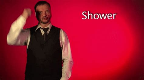 Shower Gif - sign language shower gif by sign with robert find